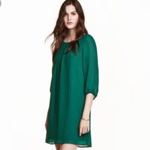 ⭐️H&M Dark Green Chiffon Dress